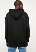 adidas Originals - Oversized hoodie - black & white