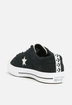 Converse - One Star suede OX - black & white