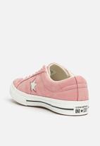 Converse - One Star Suede OX- pink/black/vintage black