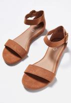Cotton On - Francesca single vamp sandal - tan