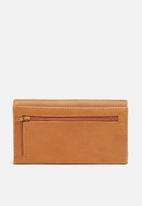 FSP Collection - Walnut leather ladies wallet - tan