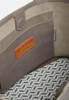 FSP Collection - Mary leather braided tote - grey