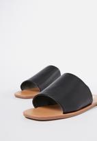 Cotton On - Cleo minimal slide - black pu