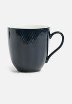 Humble & Mash - Herringbone textured mug - midnight blue