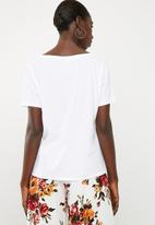 Superbalist - Boyfriend tee 2 pack - white & tan