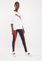 PUMA - Classic T7 leggings - navy & red