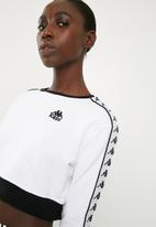 KAPPA - Authentic long sleeved crew neck top - white & black