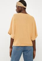 Superbalist - Cut & sew scarf top - yellow