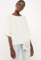 Superbalist - Cut & sew scarf top - beige