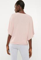 Superbalist - Cut & sew scarf top - pink