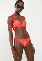 New Look - Crochet plunge - red