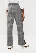 Superbalist - Long leg pant with popper detail - grey & black