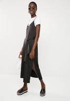 Superbalist - Tie column slip dress - black