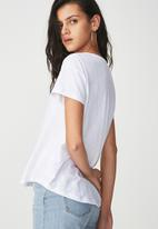 Cotton On - The summer deep v - white
