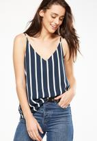 Cotton On - Astrid summer cami - navy and white
