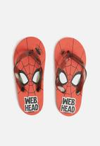 Character Fashion - Spiderman flip flops - red & black