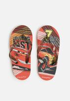 Character Fashion - Cars flip flops summer  - red