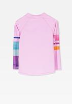 Cotton On - Hamilton long sleeve rash vest - pink