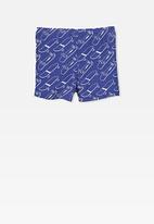 Cotton On - Billy boyleg swim trunk - blue