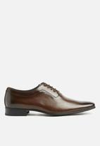 Gino Paoli - Oxford side curve shoes - brown