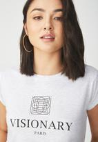 Cotton On - Tbar friends summer  graphic tee - silver