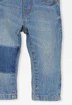 Cotton On - Arlo denim brace pant - light blue