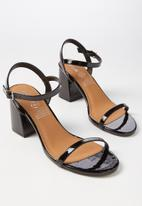 a9f2bf2296a Billy Thin Strap Heel - Black Patent Cotton On Heels