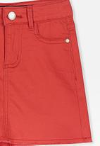 Cotton On - Francie denim skirt - red