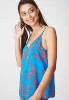Cotton On - Astrid summer cami - Blue & Red