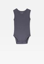 Cotton On - Singlet bubbysuit - indian ink