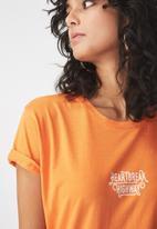 Cotton On - Tbar fox summer graphic T-shirt - oranege