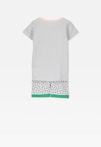 Cotton On - Joshua short sleeve pyjama set - grey