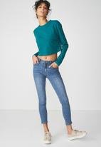 Cotton On - The urban summer long sleeve top - green