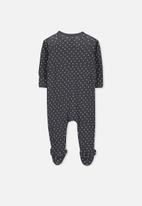 Cotton On - Long sleeve zip through romper - grey