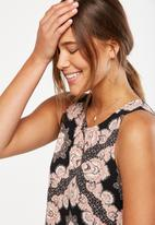 Cotton On - Olivia summer tank - black & pink
