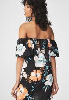 Cotton On - Woven summer off the shoulder Oliver dress - multi