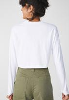 Cotton On - The urban summer long sleeve top - white