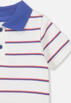 Cotton On - Hugo polo tee - navy & red