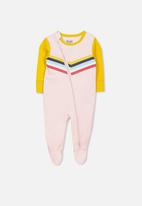 Cotton On - Mini zip through romper - light pink