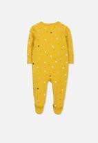 Cotton On - Mini zip through romper - yellow