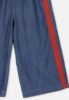 Cotton On - Isla wide leg crop pants - blue