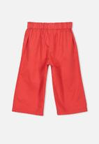Cotton On - Isla wide leg crop pants - red