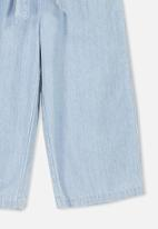 Cotton On - Isla wide leg crop pant - blue