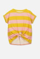 Cotton On - Chloe short sleeve top - yellow & pink