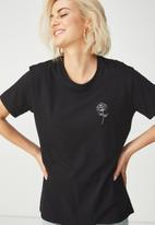 Cotton On - Tbar fox summer graphic T-shirt - black
