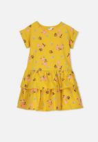 Cotton On - Alba short sleeve dress -  yellow