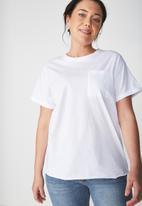 Cotton On - The one summer boyfriend pocket tee - white