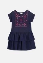 Cotton On - Alba short sleeve dress - navy