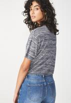 Cotton On - Charlise tie summer  front top - navy