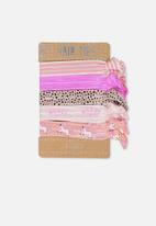 Cotton On - Knot messy hairties - pink
